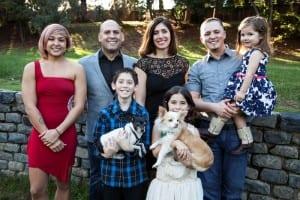 The Shelton Family (left to right: Sabreena, Chris, Parisa, Kyle, Mikayla, Blake, Annabella, Mini, and Lulu)